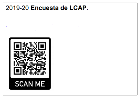 LCAP Spanish Survey QR Scanner Code