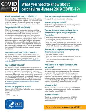 Coronavirus Fact Sheet - English